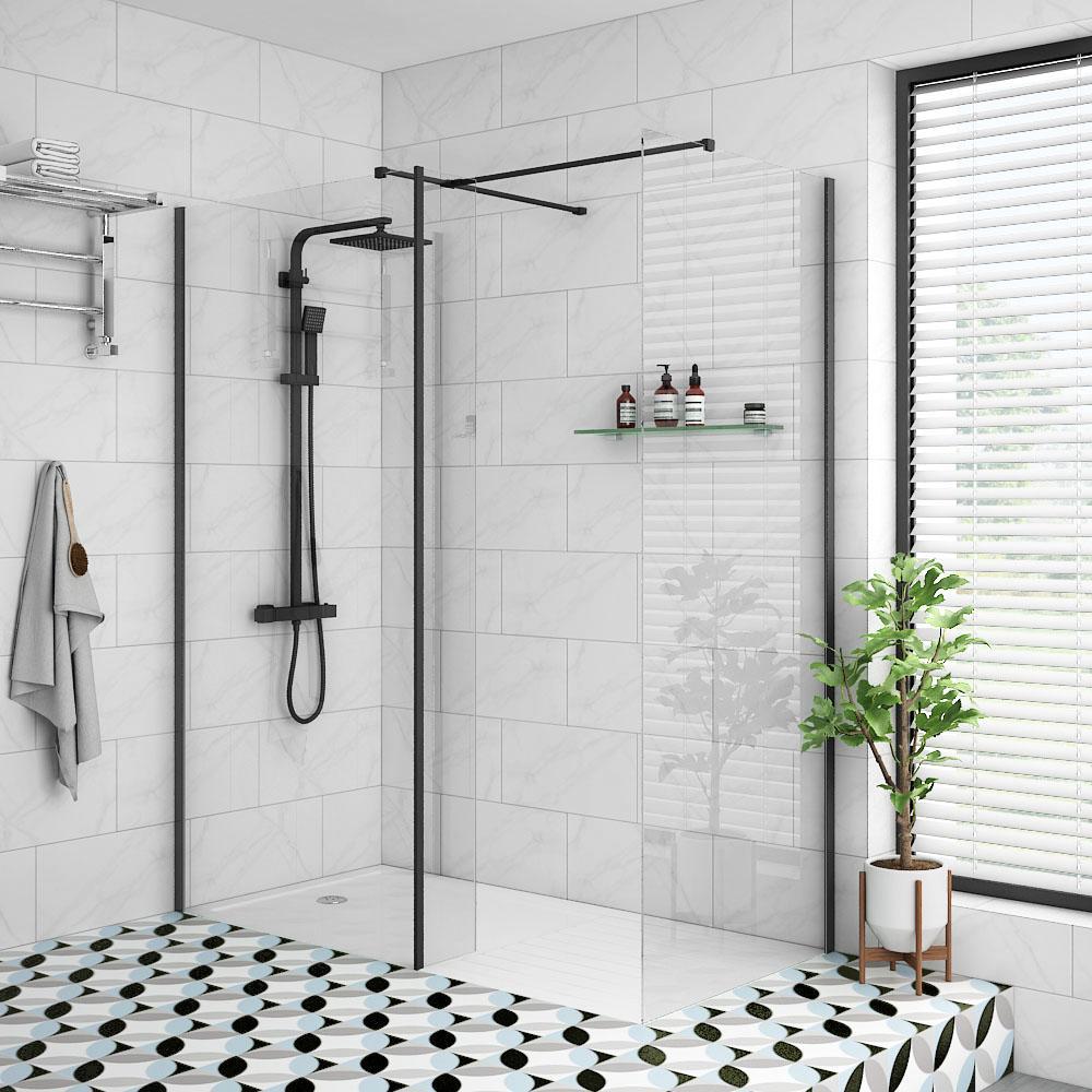 Mamparas ducha perfil negro Alicante